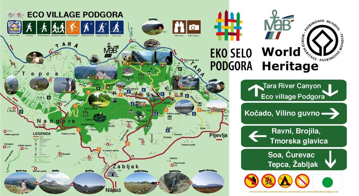 Mapa Eko sela Podgora